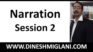 Best Rules and Concept  of Narration ( Direct and Indirect Speech ) Session 2