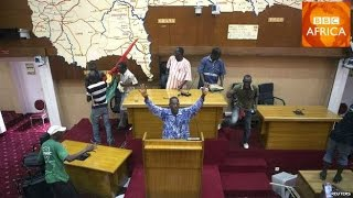 Protesters Set Fire To Burkina Faso Parliament