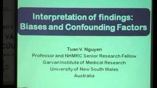 Đánh giá mối liên hệ nhân quả - Sai số và yếu tố nhiễu - GS Nguyen van Tuan