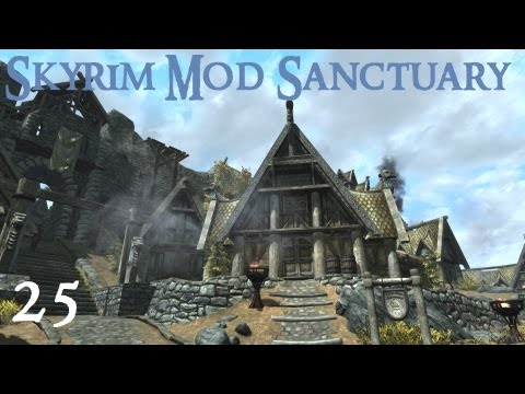 Skyrim Mod Sanctuary 25 - A Better Whiterun. Realistic Lighting. HD Fix. Shadow Striping fix