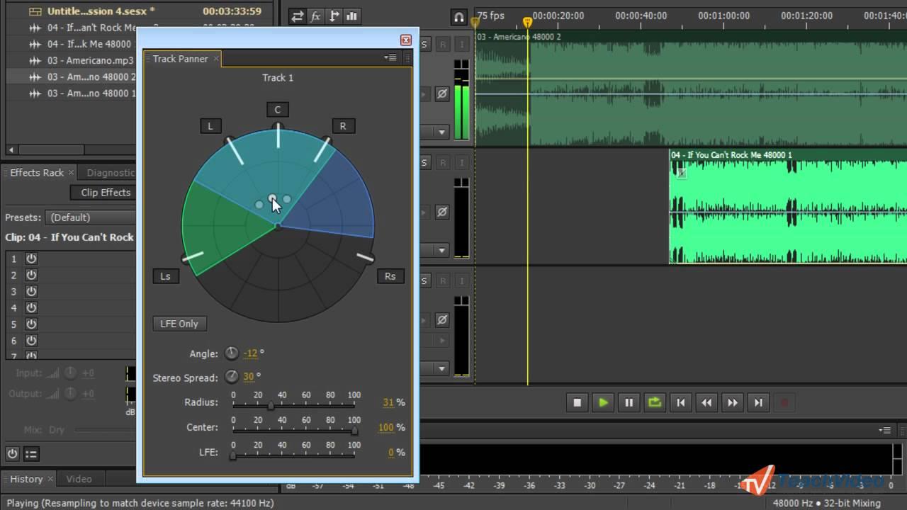 Как сделать объемный звук в adobe audition