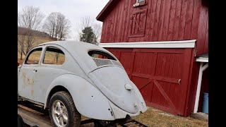 The $ 40.00 Volkswagen 1956 Oval Ragtop Beetle Find ! Vintage Vw Bug Found on a Farm . Vw Found