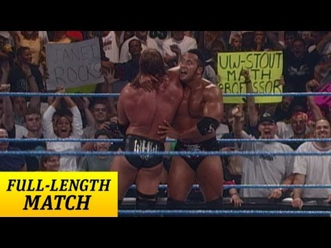 FULL-LENGTH MATCH: SmackDown - Triple H vs. The Rock - WWE Championship...