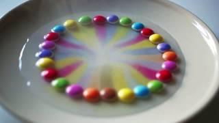 Smarties rainbow trick
