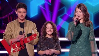 P!nk - What about us | Inès - Mathéo - Alexandra | The Voice Kids France 2018 | Battles