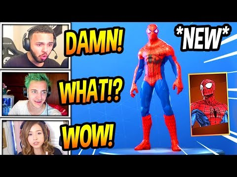"STREAMERS REACT TO *NEW* ""SPIDERMAN"" SKIN! (MODDED) Fortnite FUNNY & SAVAGE Moments"