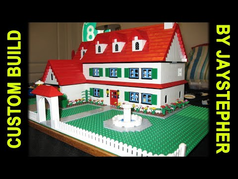 Three Bedroom Two Bath LEGO House Home CUSTOM MOC