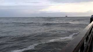 Large waves after storm at Seal beach 3-1-14