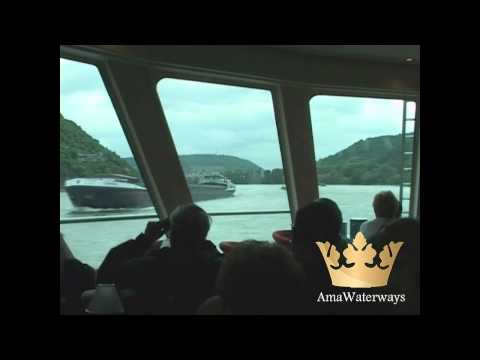 AmaWaterways Trip Down Rhine Gorge on Luxury River Cruise Ship from Koblenz to Rudesheim