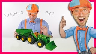 Tractor Toys with Blippi | Educational Videos for Preschoolers