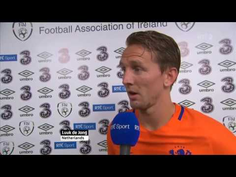 Republic of Ireland v Netherlands - Post Match Interview - Luuk de Jong (27/5/16)