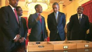 President Barack Obama Meets Lucy - An Ancient  Ancestor Of Human Being
