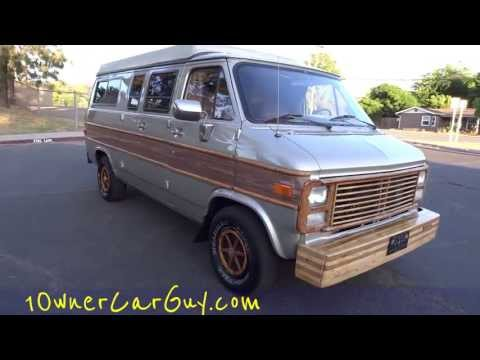 Campervan RV Sportsmobile Westfalia Pop Top Chevrolet G10 Conversion Camper RV Motorhome