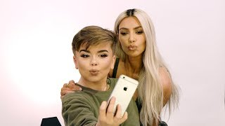 Kim Kardashian West Stops by Reuben's Makeup Tutorial