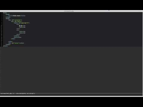 VIM Zen Coding with Sparkup plugin