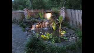 Before and After of Fish Pond with Waterfall by Creative Cascades