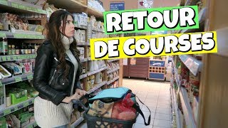Retour de courses magasin BIO
