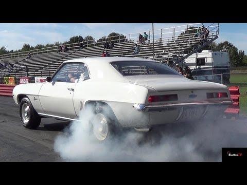Ultra Rare Camaro ZL1 vs L88 Corvette - 1/4 Mile Drag Race Video - Road Test TV ®