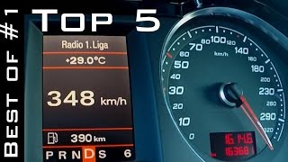 TOP 5 - ACCELERATION AND TOP SPEED 0-300+ ON GERMAN AUTOBAHN | Best of #1