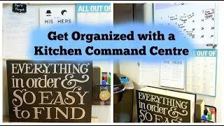 Get Organized with a Kitchen Command Centre