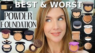 The BEST POWDER FOUNDATION For OILY SKIN | Mature Skin | 15 RANKED!
