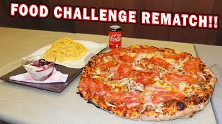 Italian Pizza Challenge REMATCH w/ Cheesy Spaghetti and Cheesecake!!