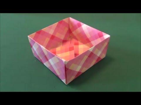 """箱」折り紙""""Box""""origami - YouTube : 折り紙 入れ物 折り方 : 折り方"""