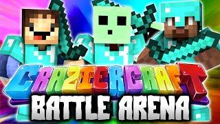 BATTLE ARENA! - Minecraft CRAZIER CRAFT #18 - (New Crazy Craft)