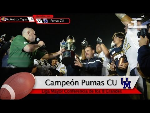 Highlights GRAN FINAL ONEFA 2013 Autenticos Tigres UANL vs Pumas CU UNAM 8nov2013