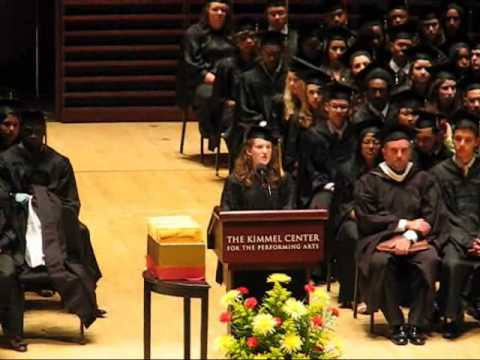Sophia Gluskin-Braun Valedictory speech-- Central High School (Philadelphia) 6/20/13