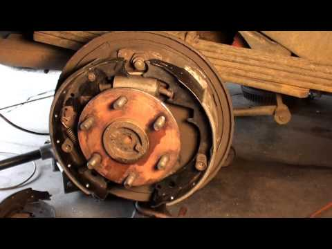 How to replace drum brakes. wheel cylinders and front pads GM