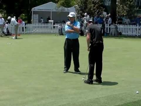 Rory McIlroy putting lesson with Dave Stockton at 2012 Wells Fargo