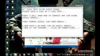 how to use any sim in aircel dongle.