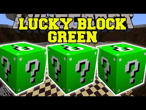 Minecraft: GREEN LUCKY BLOCK MOD (ORE TOWERS & GOLDEN APPLE WELLS!) Mod Showcase