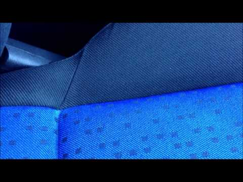 Cleaning cloth interior seats with steam clea