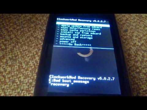 Como acceder al modo recovery en un LG Optimus One