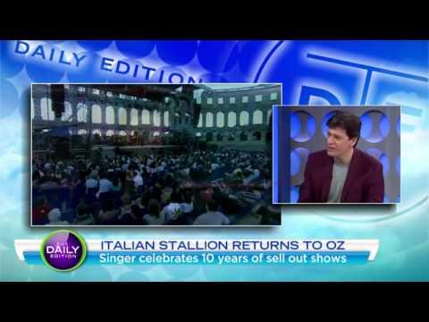 "Patrizio Buanne in conversation on ""The Daily Show"" Australia"
