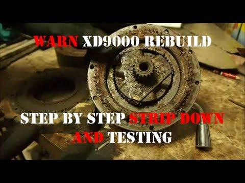 JDs DefenderCam 4: Warn XD9000 Winch Rebuild Part1 Testing Deconstruction