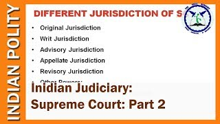 Indian Judiciary: Supreme Court Part 2 | Indian Polity | SSC CGL, UPSC | by TVA