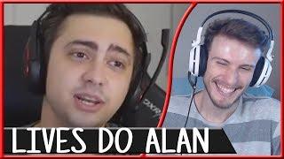 REACT COISAS QUE ACONTECEM NA LIVE DO ALANZOKA | Um Gamer Aleatório