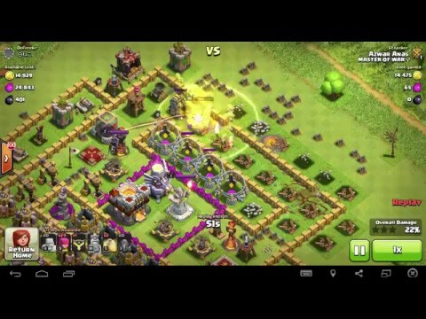 Clash of Clans II Eagle Artillery effects