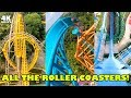 Riding ALL the Roller Coasters at Busch Gardens Williamsburg! 4K Front Seat Onride POV