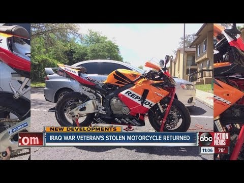 Disabled Iraq war veteran's motorcycle found, suspects arrested