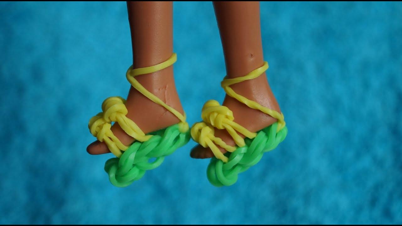Как сделать из резинок для кукол балетки
