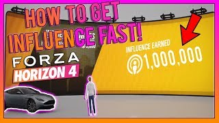 The FASTEST Way To Level Up In Forza Horizon 4!! (1,000,000+ Influence!)