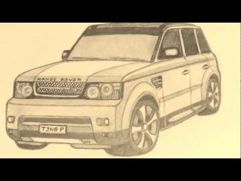 Range Rover Drawing >> Range Rover Sport HSE Drawing - YouTube