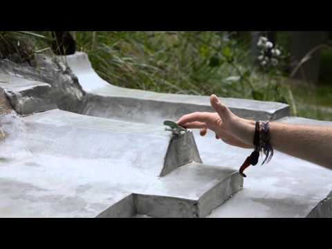 how to make concrete fingerboard ramps