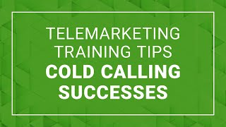 Telemarketing Training Tips | Cold Calling Success - Ford Saeks