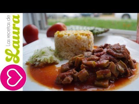 Nopales en Chile Rojo con Carne de Res ♥ Comida Saludable