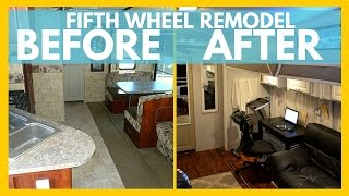 RV REMODEL BEFORE AND AFTER for Full Time RV Living